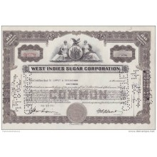 BON-203 CUBA BON 1944 10$. WEST INDIES SUGAR CORPORATION.