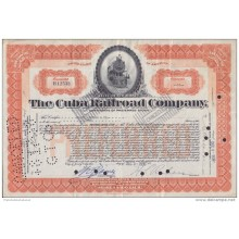 BON-207 CUBA BON 1936 10$. THE CUBA RAILROAD COMPANY.
