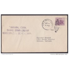 NA-45 CUBA. 1938. SHAKE DOWN CRUISE MODERNIZED. USS MISSISIPPI COVER TO US
