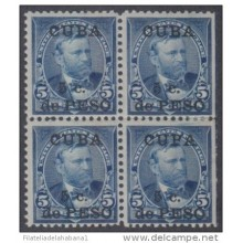 "1899-110 CUBA US OCCUPATION. 1899. Ed.27hz. 5c ""CUPA"" of ""CUBA"" BROOKEN. ERROR. MH. ERROR DE POSICION."