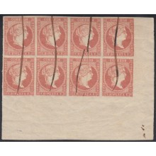 "1857-38. CUBA ESPAÑA SPAIN. SELLO 1/2 REAL CON BAEZA HOLGUIN EN NEGRO 1860. 1/2r WITH BAEZA POSTMARK ""HOLGUIN"" IN BLACK. 1860."