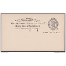1899-EP-115. CUBA. US OCCUPATION. 1899. Ed.40. ENTERO POSTAL. POSTAL STATIONERY. POSICIONES MARCADAS.