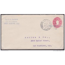 1899-EP-122 CUBA. 1899. US OCCUPATION. Ed.56. 2c. PAPEL BLANCO. NAIFE 50. SOLDIER LETTER SAGUA LA GRANDE TO US.