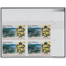 2011.331 CUBA 2011 MNH 500 ANIV BARACOA TOWN. IMPERFORATED BLOCK 4 PROOF.