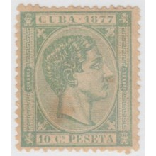 1877-13. CUBA 1876. ALFONSO XII. Ed.39. 10c NO EMITIDO. SIN GOMA. NOT ISSUE. WITHOUT GUM.