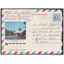 1984-EP-68 CUBA 1984. Ed.194b. ANGOLA WAR. POSTAL STATIONERY. MARTI. PARQUE CARLOS M CESPEDES. USED.
