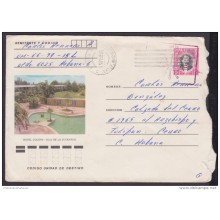 1984-EP-70 CUBA 1984. Ed.194b. ANGOLA WAR. POSTAL STATIONERY. MARTI. HOTEL COLONY. PINES IS. USED.