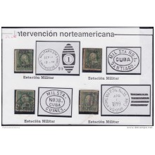 1899-133 CUBA US OCCUPATION 1899. 1c Ed.23. MILITAR STATION CANCEL.
