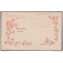 1992-EP-6 CUBA 1992. Ed.AP14. MOTHER DAY PERIODO ESPECIAL. POSTAL STATIONERY. FLORES. FLOWERS. UNUSED.