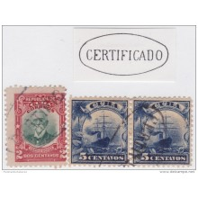 "1899-191 CUBA US OCCUPATION. 1899. MARCA COLONIAL ""CERTIFICADO"" EN OVALO."