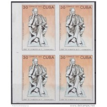 1993.111 CUBA 1993 PROOF IMPERFORATED MNH. CENTENARIO DE LA MUERTE PIOTR LLICH TCHAIKOVSKY. BALLET. NO GUM. BLOCK 4.