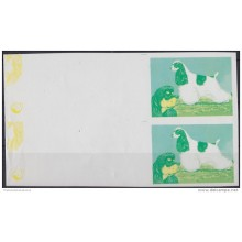 1994.147 CUBA 1994 PROOF IMPERFORATED MNH. FEDERACION CINOLOGICA. PERROS. DOGS. PAIR 2.