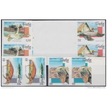 1994.155 CUBA 1994 PROOF IMPERFORATED MNH. FAUNA DEL CARIBE. AVES. BIRDS. TORTUGA. TURTLES. CRABS. COMPLETE SET. PAIR 2.