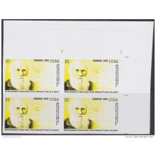 2009.186A CUBA 2009 MNH PROOF IMPERFORATED WITHOUT COLOR 200 ANIV NACIMIENTO DE CHARLES DARWIN.