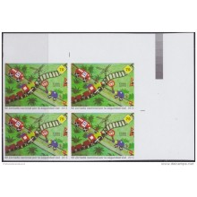 2014.295A CUBA 2014 MNH PROOF IMPERFORATED BLOCK 4 TRANSIT SEGURIDAD VIAL DRAWING CHILDREN