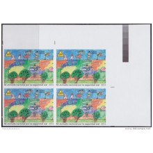 2014.296A CUBA 2014 MNH PROOF IMPERFORATED BLOCK 4 TRANSIT SEGURIDAD VIAL DRAWING CHILDREN