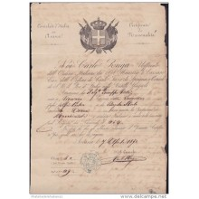 E3087 CUBA CONSULATE OF ITALY IN HAVANA CONSULAR DOC 1870. BIRTH ACT