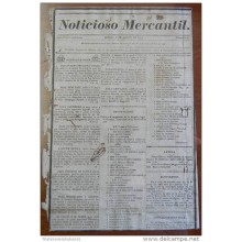 BP246 CUBA SPAIN NEWSPAPER ESPAÑA 1829 NOTICIOSO MERCANTIL 01/08/1829 34X23cm