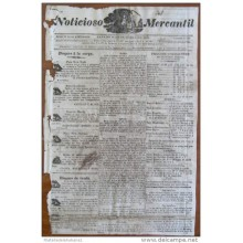 BP249 CUBA SPAIN NEWSPAPER ESPAÑA 1828 NOTICIOSO MERCANTIL 18/10/1828 22X34cm