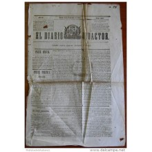 BP251 CUBA SPAIN NEWSPAPER ESPAÑA 1844 EL DIARIO REDACTOR 21/12/1844 55X38cm