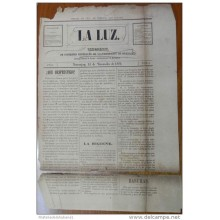 BP261 CUBA SPAIN NEWSPAPER ESPAÑA 1886 LA LUZ GUANAJAY 18/11/1886 35X27cm