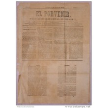 BP265 CUBA SPAIN NEWSPAPER ESPAÑA 1873 EL PORVENIR 18.04.1873 44X32cm