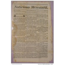 BP272 CUBA SPAIN NEWSPAPER ESPAÑA 1830 NOTICIOSO MERCANTIL 15.03.1830 37X25cm