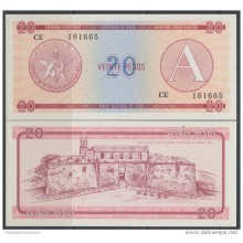 1985-BK-117 CARIBBEAN ANTILLES HAVANA CARIBE EXCHANGE CURRENCY 1985 20$ . A. UNC
