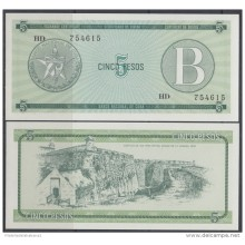 1985-BK-118 CARIBBEAN ANTILLES HAVANA CARIBE EXCHANGE CURRENCY 1985 5$ . B. UNC