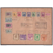 1950-PV-1 (LG-300) COLOMBIA FIRT FLIGHT TO HAVANA CUBA. ORCHILD FLIGHT. FLOWER. RARE.
