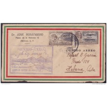 1931-PV-68 CUBA FIRT FLIGHT CRASH MEXICO - HABANA. 19 /1/1931. PROGRESO. RARE.