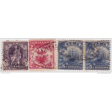 1899-224 CUBA. US OCCUPATION. 1899. SPAIN COLONIAL REGISTERED POSTAL MARK LOT.