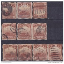 1899-242 CUBA. US OCCUPATION. 1899. Ed.34. 10c. POSTMARK CANCEL LOT.