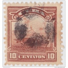 1905-95 CUBA. REPUBLICA. 1905. Ed.179. 10c. CAMPO ARADO. FANCY CANCEL STAR ESTRELLA.