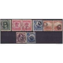 1905-99 CUBA. REPUBLICA. 1905. Ed.176-79. POSTAGE DUE FANCY CANCEL LOT