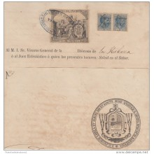 1884-UF-19 SPAIN REVENUE PAPER USE IN CUBA (LG-546). 10c. 1884 ALFONSO XII 1888 + 75 POLIZAS.