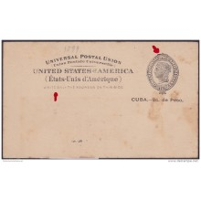 1899-EP-135 CUBA US OCCUPATION. 1899. POSTAL STATIONERY. Ed.40. UNUSED.