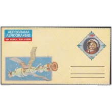 1986-EP-125 CUBA. POSTAL STATIONERY. 1986. Ed.15. AEROGRAMME. YURI GAGARIN. SPACE. UNUSED.