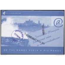 2002-EP-14 CUBA. POSTAL STATIONERY. 2002. Ed.71a. INTERNET. MELECON. USED.
