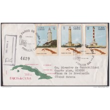 1981-FDC-16 CUBA. 1981. REGISTERED FDC FAROS. LIGHTHOUSE