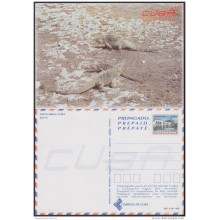 2000-EP-143 CUBA 2000. POSTAL STATIONERY. IGUANAS. LIZARD. CAYO LARGO. VISTAS TURISTICAS. UNUSED.