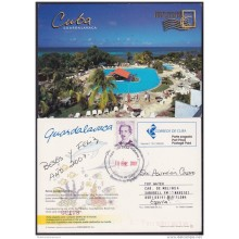 2004-EP-25 CUBA 2004. POSTAL STATIONERY. PLAYA GUARDALAVACA. BEACH. VISTAS TURISTICAS. USED.