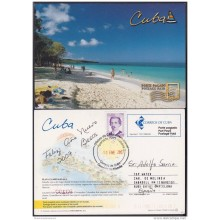 2004-EP-26 CUBA 2004. POSTAL STATIONERY. PLAYAS. BEACH. VISTAS TURISTICAS. USED.