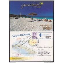 2004-EP-27 CUBA 2004. POSTAL STATIONERY. PLAYA GUARDALAVACA. BEACH. VISTAS TURISTICAS. USED.