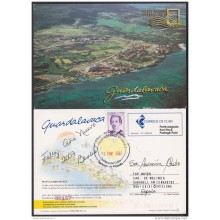 2004-EP-30 CUBA 2004. POSTAL STATIONERY. PLAYA GUARDALAVACA. BEACH. VISTAS TURISTICAS. USED.