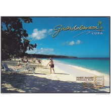 2004-EP-32 CUBA 2004. POSTAL STATIONERY. PLAYA GUARDALAVACA. BEACH. VISTAS TURISTICAS. USED.