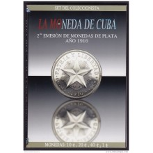BK-SET-83 CUBA SPECIAL BOOK SILVER 1916 COMPLETE SET 10c-1$. STAR TYPE.