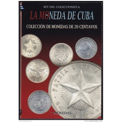 BK-SET-87 CUBA SPECIAL BOOK SILVER 20c COMPLETE SET SILVER STAR 1915-1952.