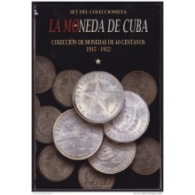 BK-SET-88 CUBA SPECIAL BOOK SILVER 40c COMPLETE SET SILVER STAR 1915-1952.