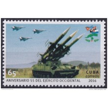 2016.25 CUBA 2016 MNH. 65 ANIV EJERCITO OCCIDENTAL. ARMY.